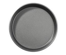 Bakvormen Mold Non-stick Pannen Carbon Staal Pizza Taart Plaat DIY Bakken Tool Party DIY Keuken Gereedschap 26*4 cm <br />  YKPuii
