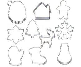 10 stks Cookie Gereedschap Cutter Mould Biscuit Druk Icing Set Stempel Mold Dessert Gereedschap Kerst Keuken Gadgets Groothandel Lot <br />  Lephan