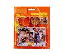 8 stks Kerst Cookie Cutter Set Rvs Druk Schimmel Vorm Gereedschap Bakken Accessoires Keuken Speelgoed Andere Home Producten <br />  Lephan
