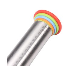 Rvs Deegroller-Professionele Bakken-4 Verstelbare Discs-Franse Stijl-Non-stick-Verwijderbare ringen <br />  Leeseph