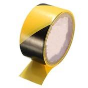 Duurzame Kwaliteit 45mm Zwart en Geel Zelfklevende Alarmlichten Veiligheid Tape Markering Veiligheid Zachte PVC tape<br />  Safurance