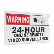 24 Uur Online Remote Video Surveillance Beveiliging CCTV Camera Metal Sign Decal <br />  Safurance