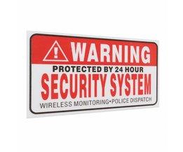 5 Stks/set Waarschuwing Beschermd door 24 Uur Beveiligingssysteem Stickers Saftey Alarm Borden Decal Waarschuwing Mark Business 9*5 cm Auto Styling <br />  Safurance