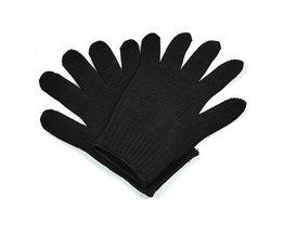 Snijbestendige Werkhandschoenen Met Rvs Draad Beschermende Veiligheid Handschoenen Metalen Tactische Butcher Staal Handschoenen <br />  TOPVICO