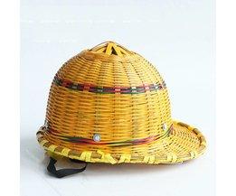 Bamboe Hoed Helm Zomer Ademend Veiligheid Helmen Met Stalen Plaat Innerlijke Shell Hard Cap Voor Werken Werknemers Bescherming <br />  CCGK