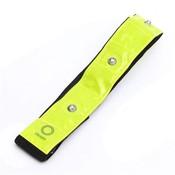 Geel & Zwart Reflecterende Materiaal Armband 4 Rode Led-verlichting Running Fietsen Wandelen Wandelen Veiligheid <br />  Safurance