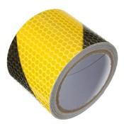 """2 """"X10' 3 Meters Zwart Geel Reflecterende Veiligheidswaarschuwing Conspicuity Tape Film Sticker Voor Cars RegenjasAankomst<br />  Safurance"""