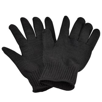 Een Paar Roestvrij Staaldraad Veiligheidshandschoenen Butcher Anti-snijden Werk Beschermende Handschoenen snijbestendige <br />  MayRecords