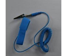PVC Cordless draadloze Clip Antistatische Polsband Esd polsband Discharge kabels voor Elektricien IC PLCC werknemer <br />  ChinFine