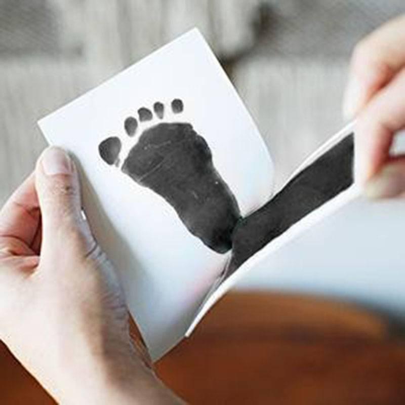 Pasgeboren Baby Handafdruk Footprint Pad Veilig Schoon Niet Giftig