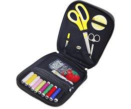 D & D Thuis Travelling Nodige Stof Naaien Kits multifunctionele Box met 100 Stks Diverse Naaien Gereedschap Accessoires naaien Tas <br />  D&D