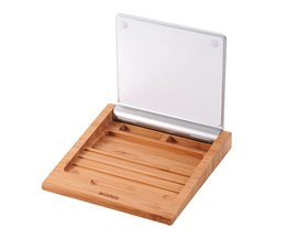 Samdi Classic Bamboe Draadloze Bluetooth Touchpad Dock Vogue Rack Houder Stand Beugel voor Apple Magic Trackpad Macbook Mode <br />  SAMDI