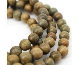 BRO933 Boeddhistische 8mm 108 Natuurlijke Groene Sandelhout Gebed MalasHouten Kralen Ketting Armbanden Verawood