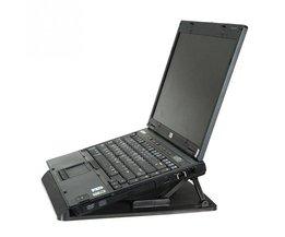 Ergonomische Verstelbare Cooler Cooling Pad Met Standhouder PC Laptop Notebook (Kleur: Zwart) <br />  RV77