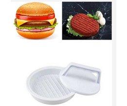 Plastic Plastic Gevulde Burger Druk Hamburger Vlees Grill BBQ Patty Koken Hamburgers Presss Hamburgers <br />  SOLEDI