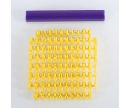 Aihogard DIY Alfabet Cakevorm Brief Impress Biscuit Cookie Cutter Druk Stamp Embosser Fondant Mold <br />  JosheLive