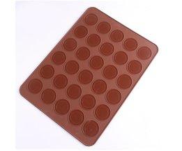 30 Gaten macarons vormige pannen siliconen bakken mat roasters cake bakken & pannen koken gereedschap <br />  houseeker