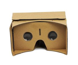 1x DIY Kartonnen VR Virtual Reality 3D Bril Voor iPhone Google telefoon Geel APE <br />  Judixy