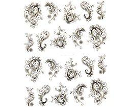 1 vel Mode Bloem Nail Stickers Water Transfer Decals Folies Polish DIY Nail Art Gereedschap Nagels Beauty Accessoires SABLE891 <br />  Sara Nail Salon