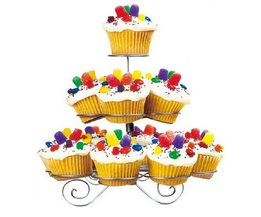 3 Tier Draad Cupcake Stand Muffin Houder Toren Bruidstaarten Decoreren Leveringen Bakken Keuken Party Tools Accessoires Producten <br />  YUMMYCOOK