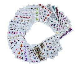 40 vellen Cartoon Nail Art Water Transfer Nail Stickers Gemengde Bloem Kant Decals Manicure Wraps Voor DIY Beauty Decor LASTZ041-080 <br />  SWEET TREND