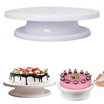 Roterende Revolving Plaat Decorating Cake Draaitafel Keuken Display Stand 11 Taart Kwartelplaat Revolving Decoratie Stand Platfor <br />  YAS