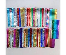 50 Stks Shimmer Holo 4*20 cm Sterrenhemel Nail Folie Kleurrijke Nail Starry Glitter Transfer Sticker Manicure Nail Art Decoratie <br />  Born Pretty