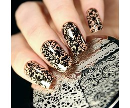 Geboren Pretty Chic Kant Patroon Nail Art Stamping Template Afbeeldingsstempel Plate BP02 Nail Stempelen Platen Nail Art Decoraties <br />  Born Pretty