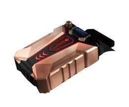 Ijs Troll 7 COOLCOLD Draagbare Laptop Notebook Fan Turbo Radiator Ultra Stille Koelventilator, AC 220 V <br />  haweel