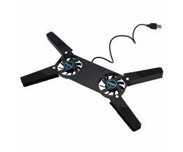 Cool Koeler Koelventilator USB Opvouwbaar Opvouwbare Pad w/2 Fans voor Laptop NotebookPromotionCollectie <br />  OXA