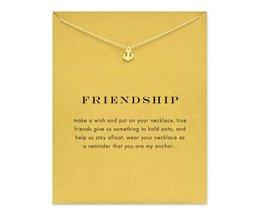 Fonkelende vriendschap Anker Hanger ketting Sleutelbeen KettingenStatement Ketting Voor Vrouwen FOMALHAUT Sieraden <br />  MyXL