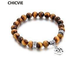 Tijgeroog Natuursteen Armbanden & Bangles Voor Vrouwen Mannen Zilveren kleur Bedelarmband Casual Sieraden LiefdePulseras <br />  CHICVIE