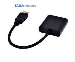 Zwart 1080 P HDMI Male naar VGA Vrouwelijke Video Converter Adapter Kabel hdmi naar vga Voor PC DVD <br />  Smmnas