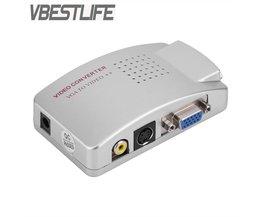 PC Converter Box VGA naar TV AV RCA Signaal Adapter Converter Video Switch Box Composiet Ondersteunt NTSC PAL voor Computer <br />  VBESTLIFE
