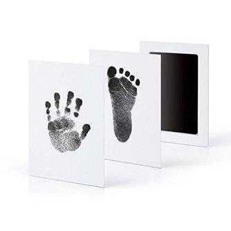 Pasgeboren Baby Handafdruk Footprint Fotolijst Kit Niet-giftig Schoon Touch Inkt Pad <br />  Kemei
