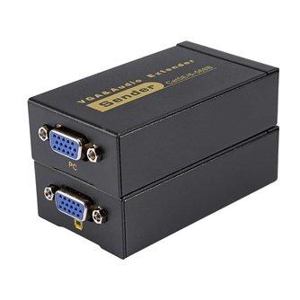 1080 p vga extender vrouw om lan cat5e/6 rj45 ethernet adapter vrouwelijke vga video en stereo audio extender 328ft extension <br />  VBESTLIFE