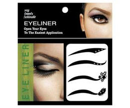 4 Paar Zwart Eyeliner Sticker Eyeliner Make Up Eye Sticker Double Ooglidcorrectie Transfer Tape Eye Tattoo Eyeliner Waterdichte Maquillage <br />  efero
