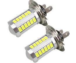 2x H7 LED Wit High Power Licht voor Samsung Led Chip 5630 Chip Mistlamp Koplamp Driving DRL Auto Licht Auto Bulb <br />  WLJH