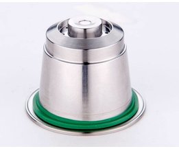 Rvs Metalen Hervulbare Nespresso Capsule Herbruikbare Vullingen Pods Navullen Herbruikbare Koffie capsulas <br />  EHS