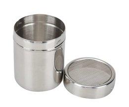 Maat L Spill Koffie Mok Espresso maker Grinder Manden Koffie Zifter Filter Chocolade Koffie Poeder Shaker Spice <br />  VanKood