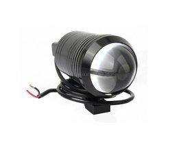 2 stks Universele U1 Fisheye Lens LED 12 W Motorfiets Licht Koplamp Rijden Fog Spot Nacht Werk Lamp + Switch <br />  SUMCOAS