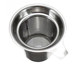 Rvs Mesh Cup Zeef Herbal Locking Theefilter Zetgroep Theezeefje Theelepel Spice Filter Koffie & Thee Tool <br />  HOUSEEN