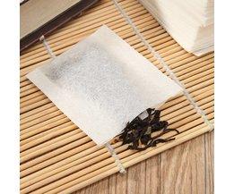 500 Stks/partij Heat Seal Filter Papier Voor Kruid Losse Thee Bag voor Thee Liefhebbers 5.5x6.2 CM Theezakjes niet-geweven Lege Thee tassen <br />  YKPuii
