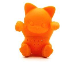Creatieve Cartoon Kitten Theezeefje Siliconen Leuke Kat Thee-ei Mooie Oranje Kitten Siliconen Thee Gereedschap <br />  AIHOME