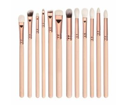 12 stks makeup brush set Professionele cosmetische gereedschap Rose golden compleet luxe foundation blush oogschaduw borstels kit <br />  dower me