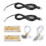 2 Spelers DIY Zero Delay Arcade USB Encoder PC Joystick Vervanging Onderdelen Usb-kabel Encoder Board + Push Knoppen Draad kabels <br />  ShirLin
