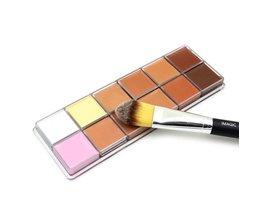 Concealer Palette 12 Kleuren Beauty Contour Make Toilettasj Gezichtscrème Concealer Palet & Brush Make up kit <br />  Imagic