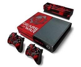 Gear van wars skin sticker voor Microsoft xbox een vinyl beschermende cover sticker voor xbox een console contrôle skin voor xbox een <br />  TECTINTER
