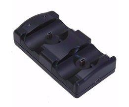 USB Dual Opladen Aangedreven Dock Charger Voor Sony PlayStation 3 Controller Joystick Voor Sony PS3 Contrôle en Move Navigatie <br />  TECTINTER