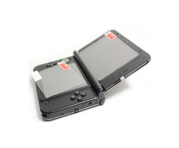 Top Gehard Glas LCD Screen Protector + Bodem HUISDIER Clear Volledige Cover Beschermfolie Guard voor Nintendo3DS XL/LL 3 DSXL/3 DSLL <br />  KomoKe